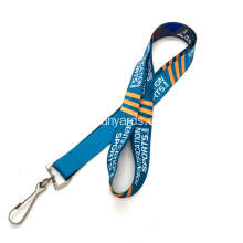 Polyester Personalized Logo Lanyards Sublimasi Dicetak